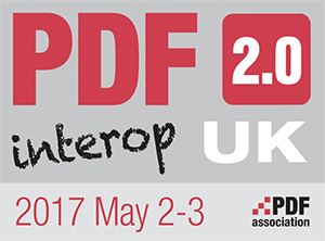 PDF Association PDF2.0 Interop Workshop 2017, Campbridge, UK - Banner