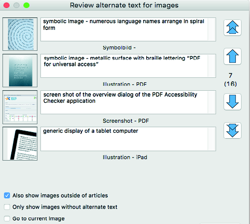 axaio software MadeToTag Control Center Task 3 - Alternatate text  for images and graphics - Picture