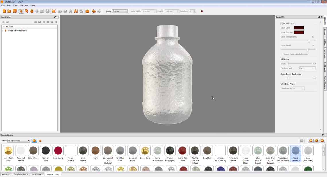 Creative Edge Software - iC3D Materials - Frozen Bottle - Picture
