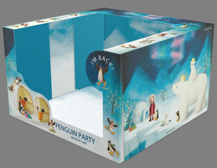 iC3D - Box - Penguin Party Madeira Cake - Picture