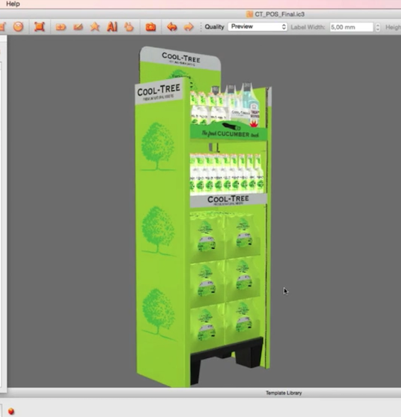 iC3D Opsis Model - Cool Tree Cucumber Tonic Water - Standalone POS with 4Packs - Picture