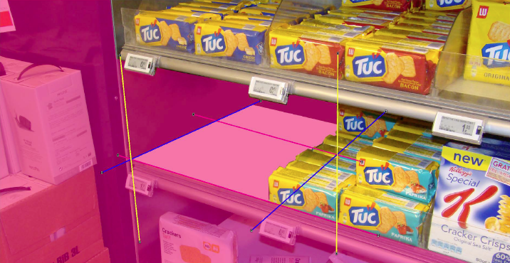iC3D Dynamic Backgrounds - Perspective Adaption of 3D Modell to Perspective of 2D Photo of Store Shelf - Picture