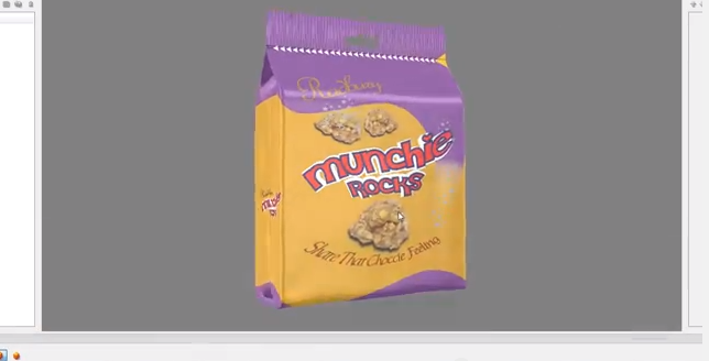 Creative Edge Software - iC3D Suite Special Effects - Attach Adobe Illustrator Artwork to 3D Flexible Foiled Bag - Picture