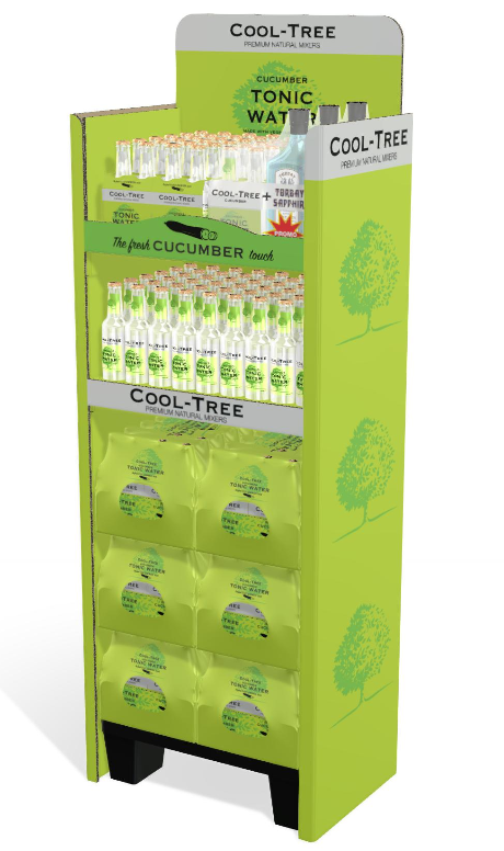 iC3D Opsis Model - Food - Cool Tree Cucumber Tonic Water - POS with 4-Packs - Picture