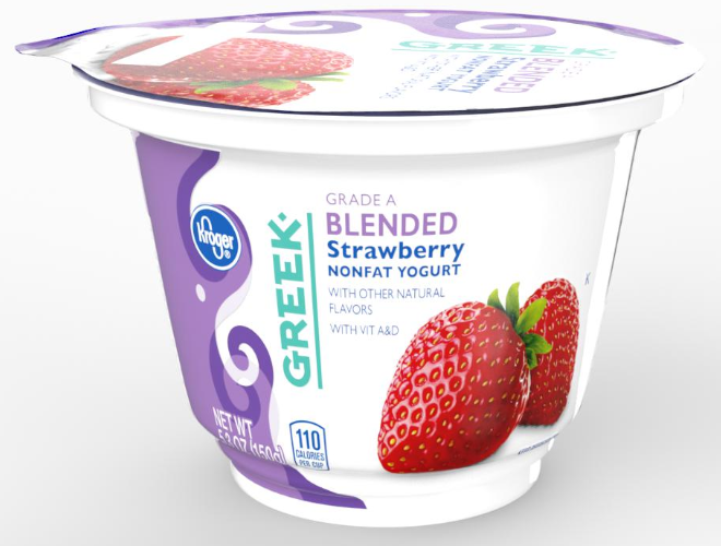 iC3D Opsis Model - Livsmedel - Yoghur-bägare - Kroger Greek Blended Strawberry Yogurt - Bild