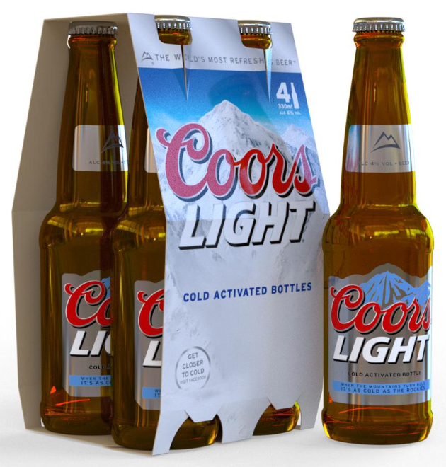 iC3D Opsis Model - Beer Bottles - Coor Light - 4-Pack - Bild