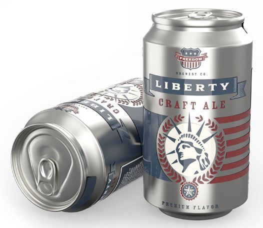 iC3D - Cans - Liberty Craft Ale Beer - Picture