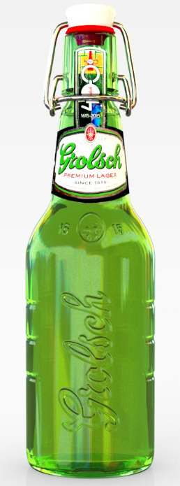 iC3D Opsis Model - LIvsmedel - Grolsch Premium Lager Beer Bottle - Picture