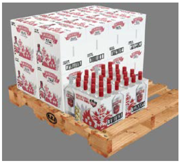 Creative Edge Software - iC3D Suite - Pallet with Stacked Cartons - Bild