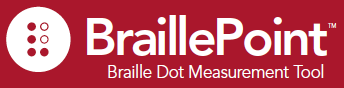 BraillePoint - Braille Dot Height Measurement Tool - Ikon