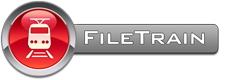 FileTrain - Logo med text