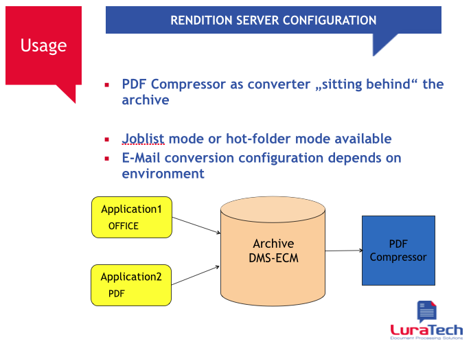 Foxit/LuraTech PDF Compressor Enterprise Rendition Server - Picture