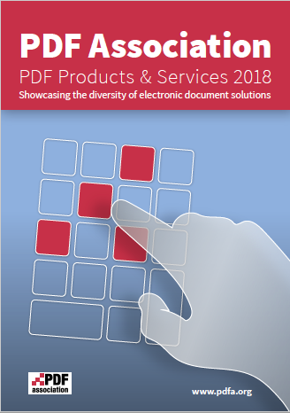 PDF Association Products and Services Guide 2018 - Front Cover - Bild