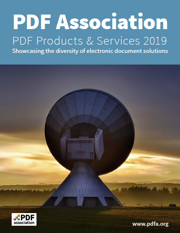 PDF Association PDF Products and Services Guide 2019 - Front Cover - Picture